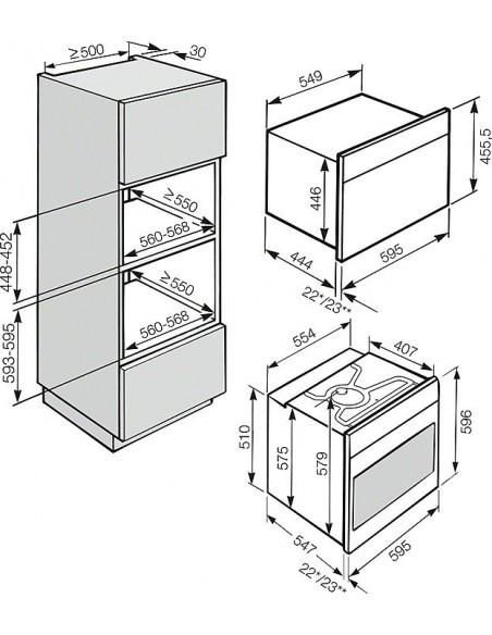 Miele DG 5061-60 noir - Schéma d'encastrement