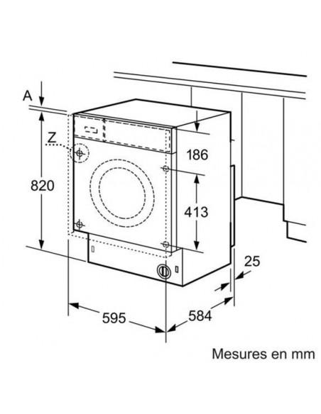 Bosch WKD28540EU Avantixx - Schéma encastrement