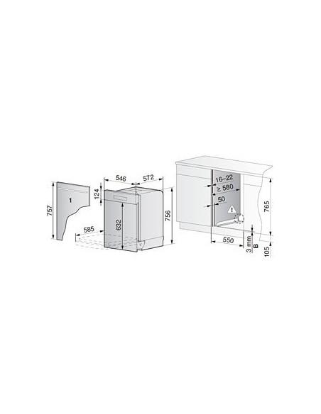 ZUG Adora 55 N - Cotes d'encastrement