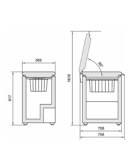 Liebherr GT 1432 Comfort - Dimensions