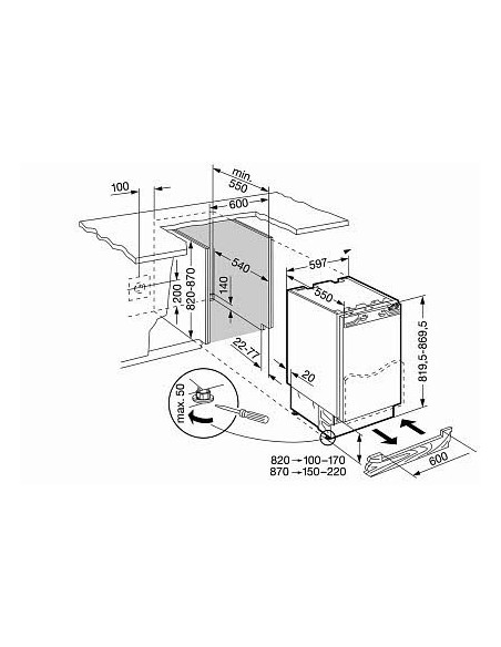 Liebherr UIG 1323 Comfort - Dimensions