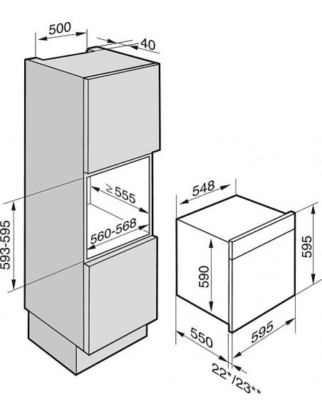 Miele DGC 6660-60 XXL - Dimensions d'encastrement