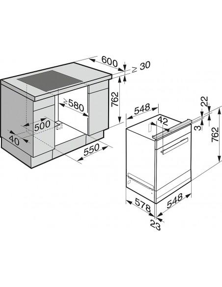 Miele DGC 6660-55 XXL - Dimensions d'encastrement