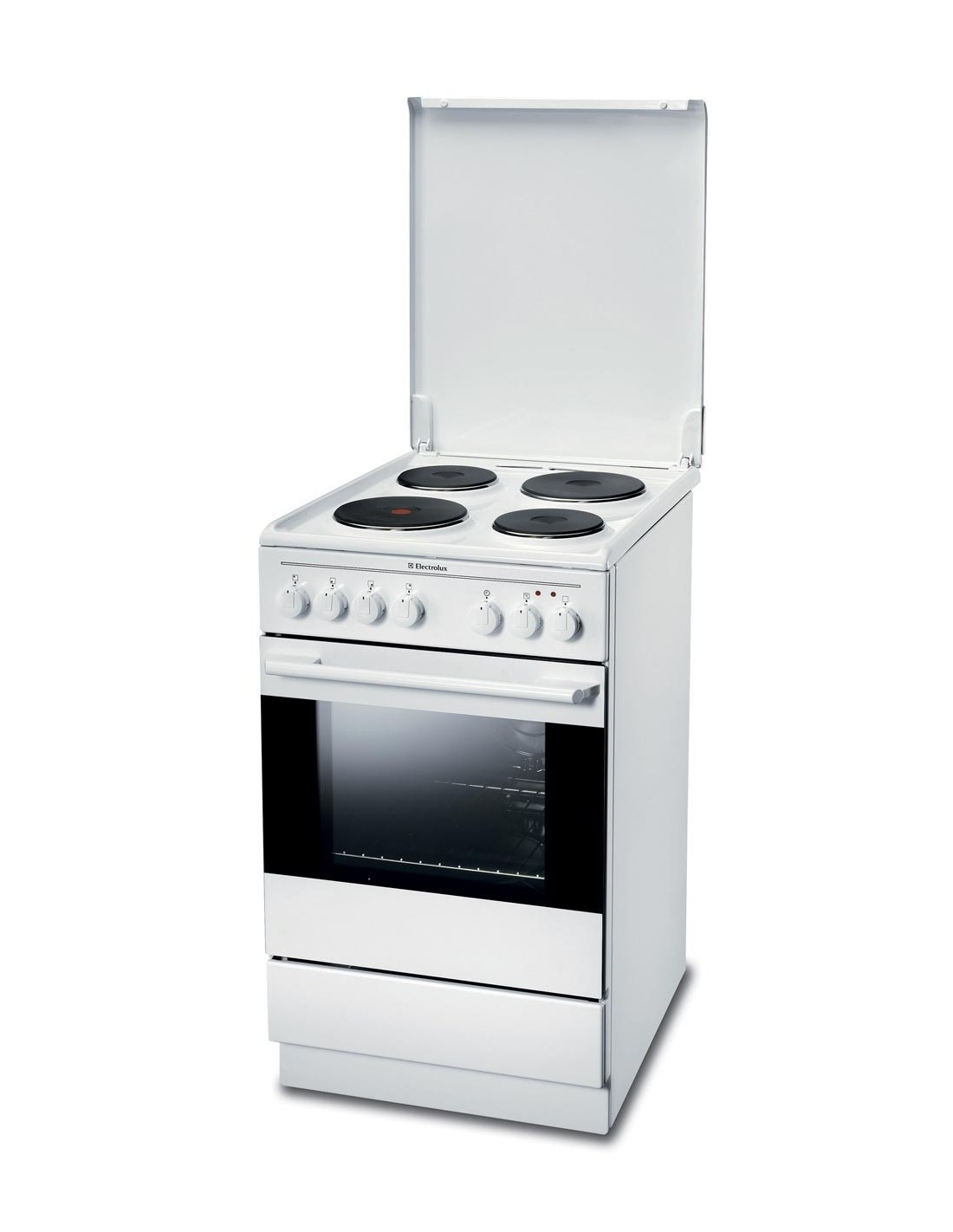 Cuisiniere a plaques electrolux feh 50 p2 for Freistehender herd