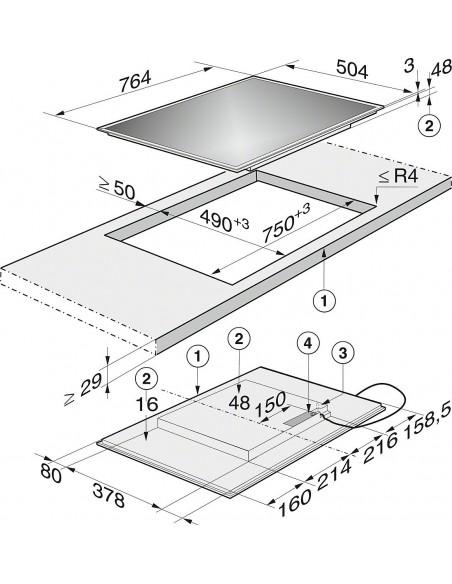 Miele KM 6347 Dimensions