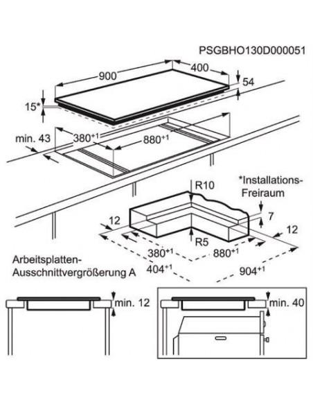 Electrolux GK903TSIPO Dimensions