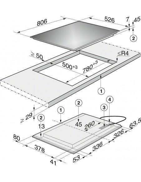 Miele KM 6366-1 Dimensions