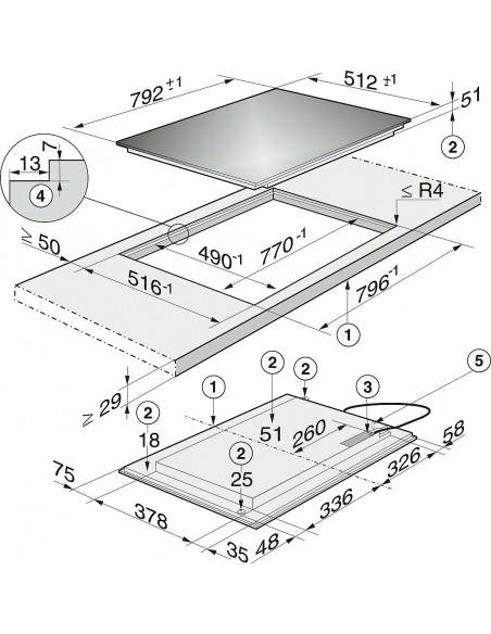 Miele KM 6367-1 Dimensions
