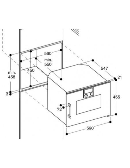 Gaggenau BSP 250 100 Anthracite Dimensions