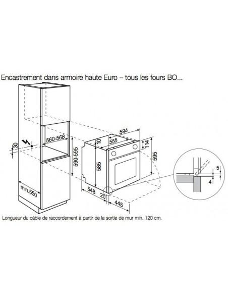 AEG BOBZRM inox encastrement armoire haute