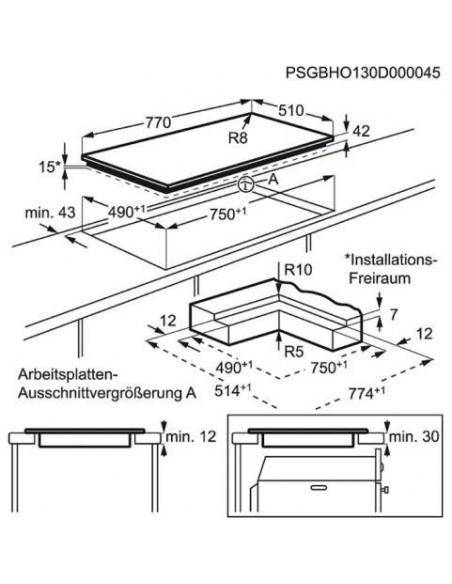Electrolux GK78TSHO - Dimensions d'encastrement