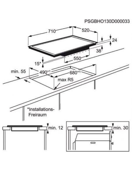 Electrolux GK69TSHO - Dimensions d'encastrement