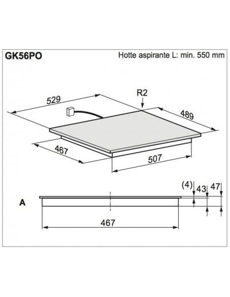 Electrolux GK56PO dimensions d'encastrement