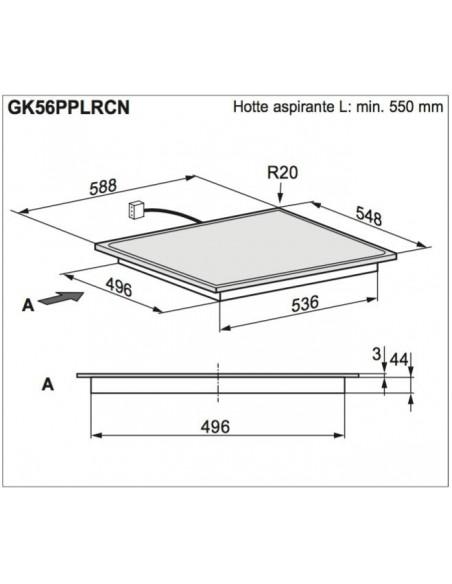 Electrolux GK56PPLRCN Dimensions d'encastrement
