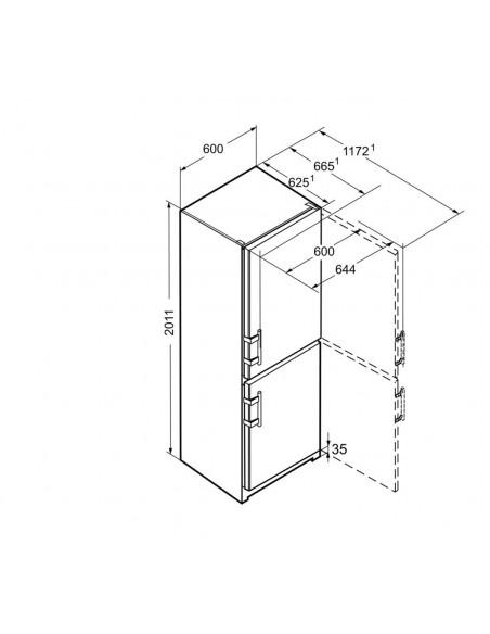 Liebherr Cef 3825 Dimensions