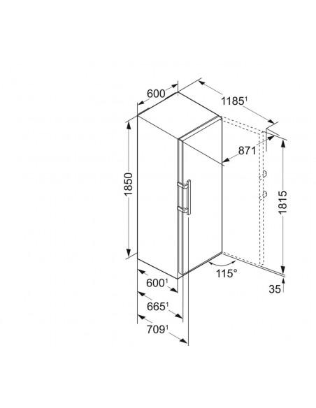 Liebherr KPef 4350 Dimensions
