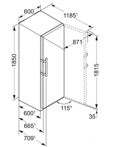 Liebherr K 4310 Dimensions