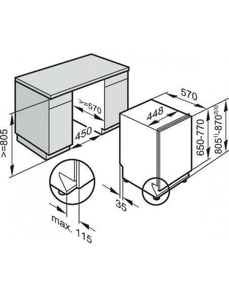 Miele G 14880-45 SCVi - Dimensions