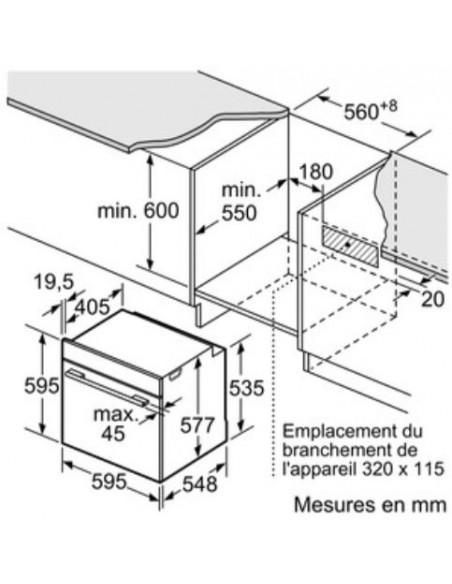 Siemens HS658GXS6C - Dimensions