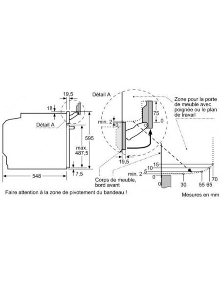 Siemens HS658GXS6C - Dimensions pour le bandeau