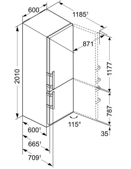 Liebherr CBPef 4815 Dimensions
