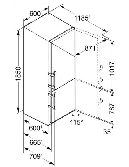Liebherr CNPes 4358 Dimensions