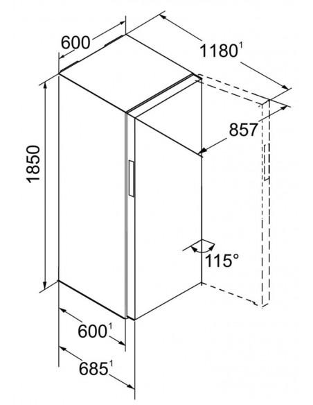 Liebherr KBP 4354 Dimensions