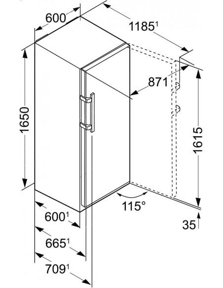 Liebherr KB 3750 Dimensions