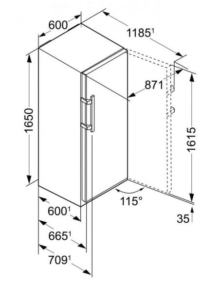 Liebherr GNP 3755 Dimensions