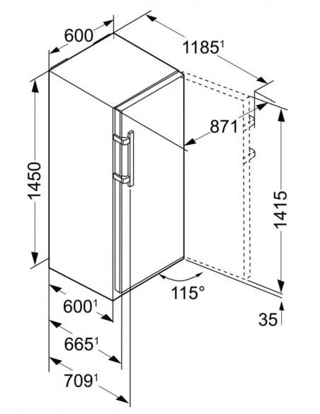 Liebherr GNP 3255 Dimensions