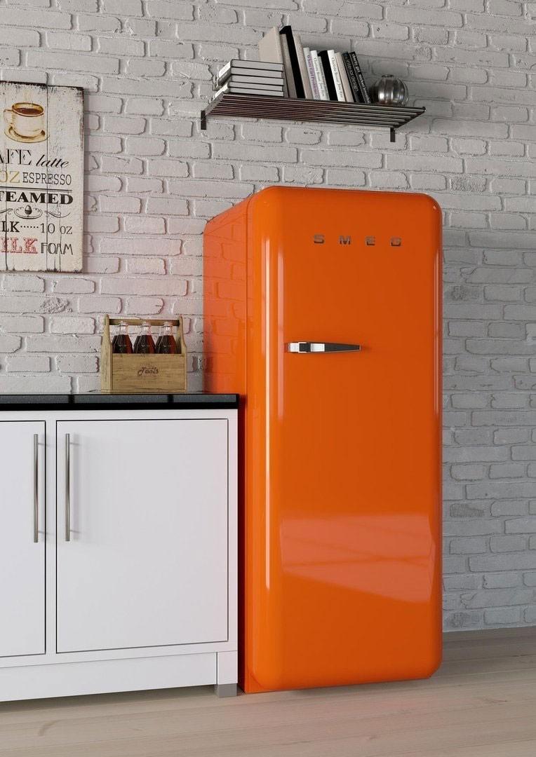 r frig rateur smeg fab28ro1 orange charni re droite. Black Bedroom Furniture Sets. Home Design Ideas