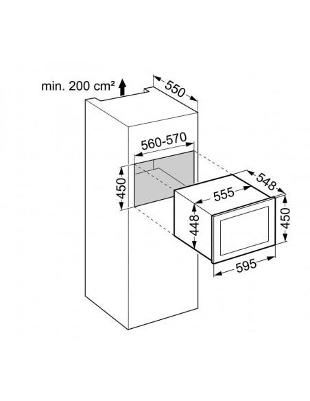 Liebherr WKEgw 582 GrandCru - Dimensions