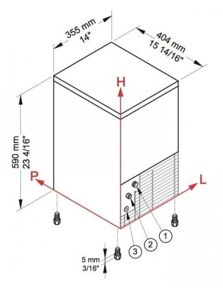 Brema CB 184 - Dimensions