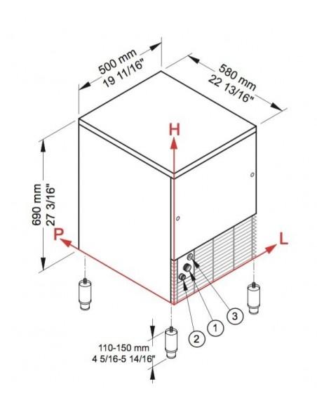 Brema CB 316 - Dimensions