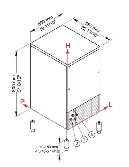 Brema CB 425 - Dimensions