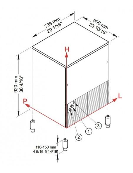 Brema CB 640 - Dimensions