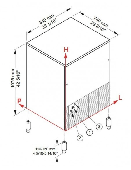 Brema CB 1565 - Dimensions
