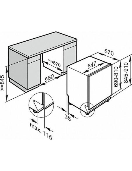 Miele G 3385-55 SCVi inox - Dimensions