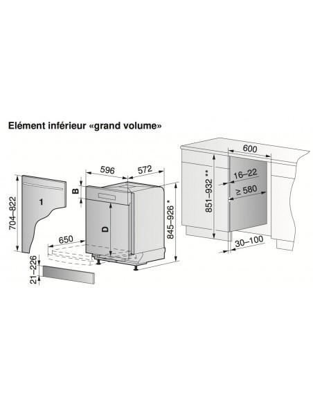 ZUG Adora N GVi 60 Grand Volume - Dimensions d'encastrement