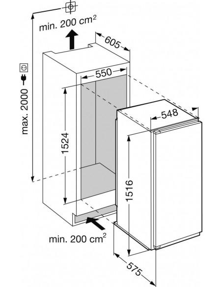 Liebherr IKBc 2854 Premium BioFresh - Dimensions d'encastrement