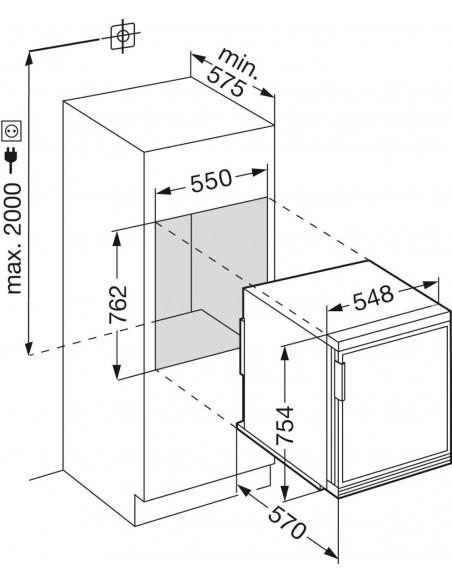 Liebherr EKc 1424 Comfort - Dimensions d'encastrement
