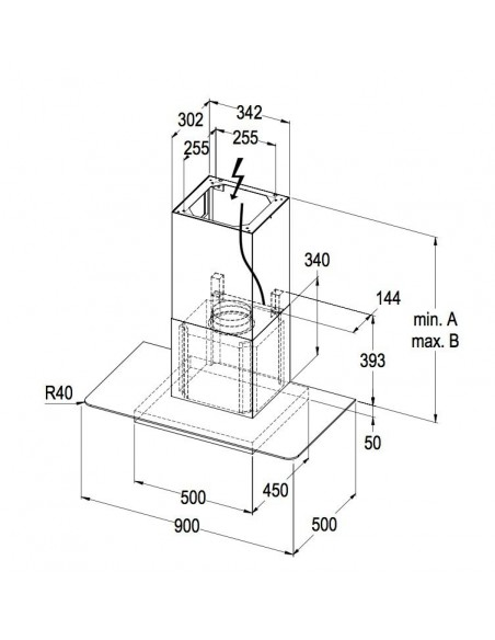 Wesco WHE SCALA 110 INOX recyclage - Dimensions