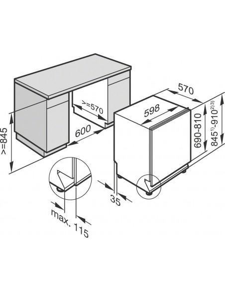 Miele G 26065-60 Vi XXL - Dimensions