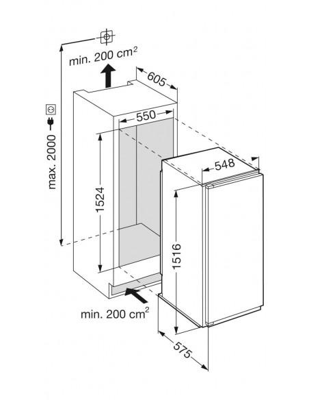 Liebherr IKFPc 2854 Premium - Dimensions d'encastrement