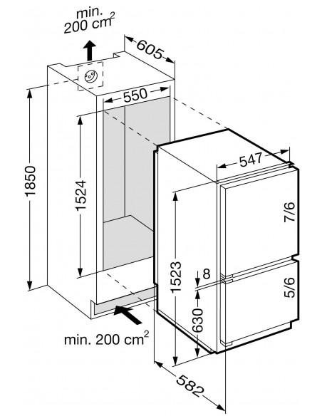Liebherr ICc 2866 Premium - Dimensions d'encastrement