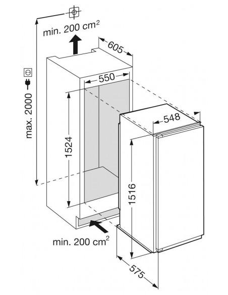 Liebherr IKPc 2854 Premium - Dimensions d'encastrement
