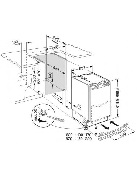 Liebherr UIK 1550 Premium - Dimensions d'encastrement