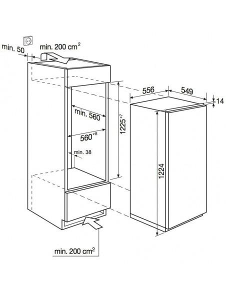 Electrolux IK 2065 S - Dimensions d'encastrement