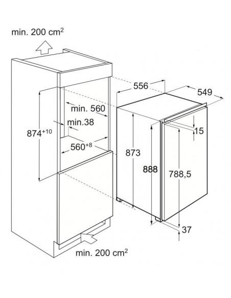 Electrolux IK 1555 C - Dimensions d'encastrement