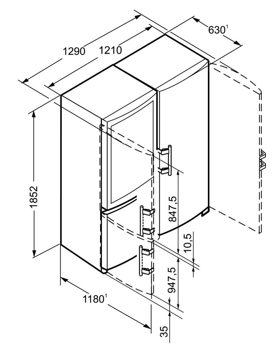 combin side by side liebherr sbses 7353 premium biofresh nofrost. Black Bedroom Furniture Sets. Home Design Ideas